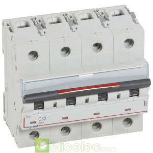 DX3 4P C32 36KA 410037 Legrand Disjoncteurs PH+N