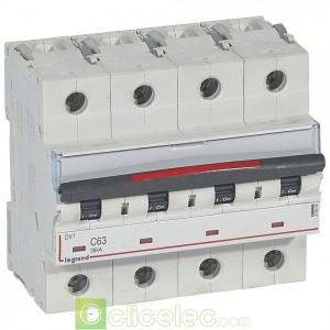 DX3 4P C63 36KA 410040 Legrand Disjoncteurs PH+N