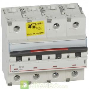 DX3 4P C80 36KA 410041 Legrand Disjoncteurs PH+N