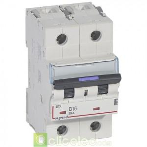 DX3 2P B16 50KA 410098 Legrand Disjoncteurs PH+N