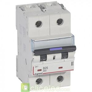 DX3 2P B25 50KA 410100 Legrand Disjoncteurs PH+N