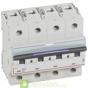 DX3 4P B20 50KA 410123 Legrand Disjoncteurs PH+N