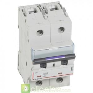 DX3 2P C10 50KA 410147 Legrand Disjoncteurs PH+N