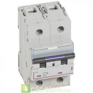 DX3 2P C16 50KA 410148 Legrand Disjoncteurs PH+N
