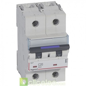 DX3 2P C20 50KA 410149 Legrand Disjoncteurs PH+N