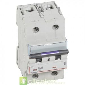 DX3 2P C25 50KA 410150 Legrand Disjoncteurs PH+N