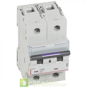 DX3 2P C40 50KA 410152 Legrand Disjoncteurs PH+N