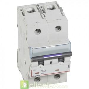 DX3 2P C63 50KA 410154 Legrand Disjoncteurs PH+N