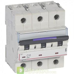 DX3 3P C10 50KA 410160 Legrand Disjoncteurs PH+N