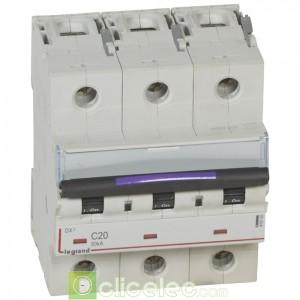 DX3 3P C20 50KA 410162 Legrand Disjoncteurs PH+N