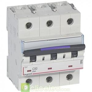 DX3 3P C50 50KA 410166 Legrand Disjoncteurs PH+N