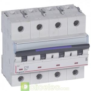 DX3 4P C10 50KA 410173 Legrand Disjoncteurs PH+N