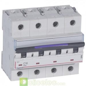 DX3 4P C16 50KA 410174 Legrand Disjoncteurs PH+N