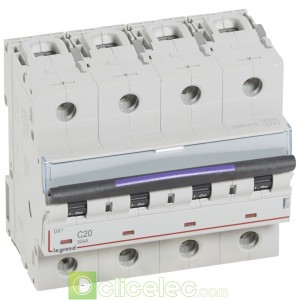 DX3 4P C20 50KA 410175 Legrand Disjoncteurs PH+N