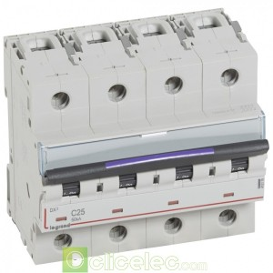 DX3 4P C25 50KA 410176 Legrand Disjoncteurs PH+N