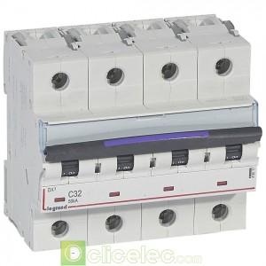 DX3 4P C32 50KA 410177 Legrand Disjoncteurs PH+N