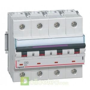 DX3 4P C63 50KA 410180 Legrand Disjoncteurs PH+N
