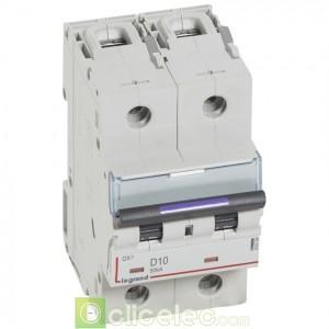 DX3 2P D10 50KA 410199 Legrand Disjoncteurs PH+N