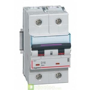 DX3 2P D16 50KA 410200 Legrand Disjoncteurs PH+N