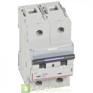 DX3 2P D20 50KA 410201 Legrand Disjoncteurs PH+N