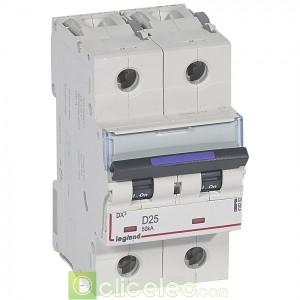 DX3 2P D25 50KA 410202 Legrand Disjoncteurs PH+N