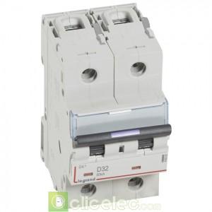 DX3 2P D32 50KA 410203 Legrand Disjoncteurs PH+N