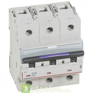 DX3 3P D20 50KA 410214 Legrand Disjoncteurs PH+N