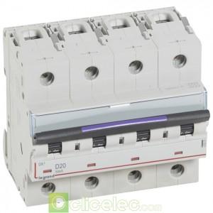 DX3 4P D20 50KA 410227 Legrand Disjoncteurs PH+N