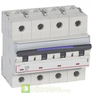 DX3 4P D50 50KA 410231 Legrand Disjoncteurs PH+N