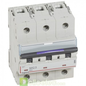 DX3 3P MA2.5 50KA 410247 Legrand Disjoncteurs PH+N