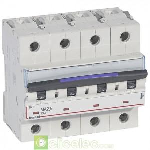 DX3 4P MA2.5 50KA 410257 Legrand Disjoncteurs PH+N