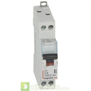 DX3 1P+NG C4 4500A/6KA 406864 Legrand Disjoncteurs PH+N
