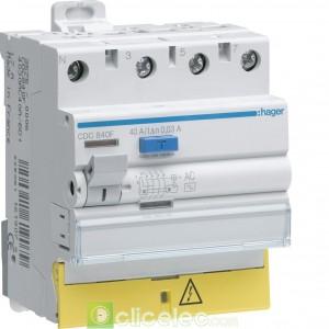 Inter dif 3P+N 25A 30mA AC BD - CDC825F Hager Interrupteur Différentiel