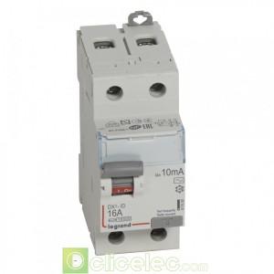 DX3-ID 2P 16A AC 10MA - 411500 Legrand Interrupteur Différentiel