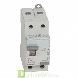 Interrupteur différentiel DX3-ID 2P 63A AC 30MA - 411506 Legrand