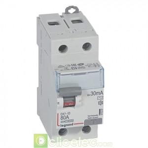DX3-ID 2P 80A AC 30MA - 411507 Legrand Interrupteur Différentiel