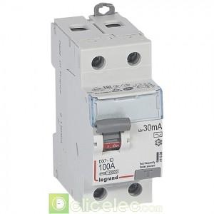 DX3-ID 2P 100A AC 30MA - 411508 Legrand Interrupteur Différentiel