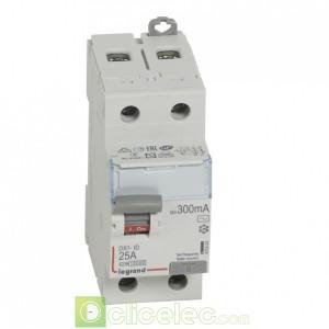 DX3-ID 2P 25A AC 300MA - 411524 Legrand Interrupteur Différentiel