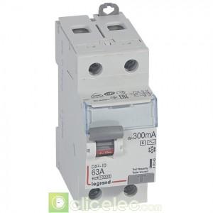 DX3-ID 2P 63A AC-S 300MA - 411543 Legrand Interrupteur Différentiel