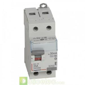 DX3-ID 2P 25A HPI 30MA - 411590 Legrand Interrupteur Différentiel