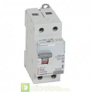 DX3-ID 2P 63A HPI 30MA - 411592 Legrand Interrupteur Différentiel