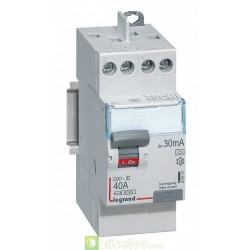 Interrupteur différentiel DX3-ID 2P 40A A 30MA TG - 411617 Legrand
