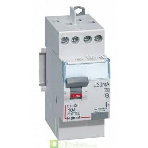 DX3-ID 2P 40A A 30MA TG - 411617 Legrand Interrupteur Différentiel