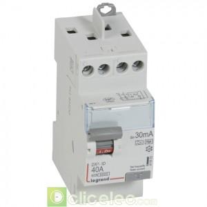 DX3-ID 2P 40A HPI 30MA TG - 411623 Legrand Interrupteur Différentiel