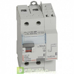 Interrupteur différentiel DX3-ID 2P 63A AC 30MA TGA - 411633 Legrand