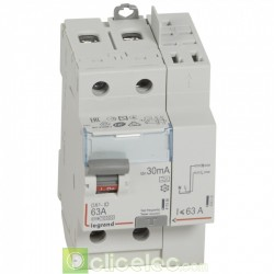 Interrupteur différentiel DX3-ID 2P 63A A 30MA TGA - 411639 Legrand