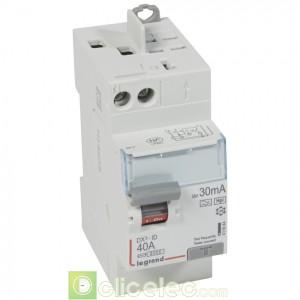 DX3-ID 2P 40A HPI 30MA TGA - 411644 Legrand Interrupteur Différentiel
