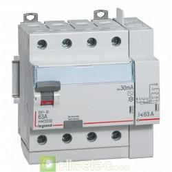 Interrupteur différentiel DX3-ID 4PG 63A AC 30MA TGA - 411653 Legrand