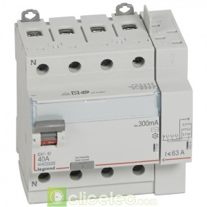 DX3-ID 4PG 40A AC 300MA TGA - 411654 Legrand Interrupteur Différentiel