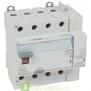 DX3-ID 4PG 40A HPI 30MA TGA - 411658 Legrand Interrupteur Différentiel